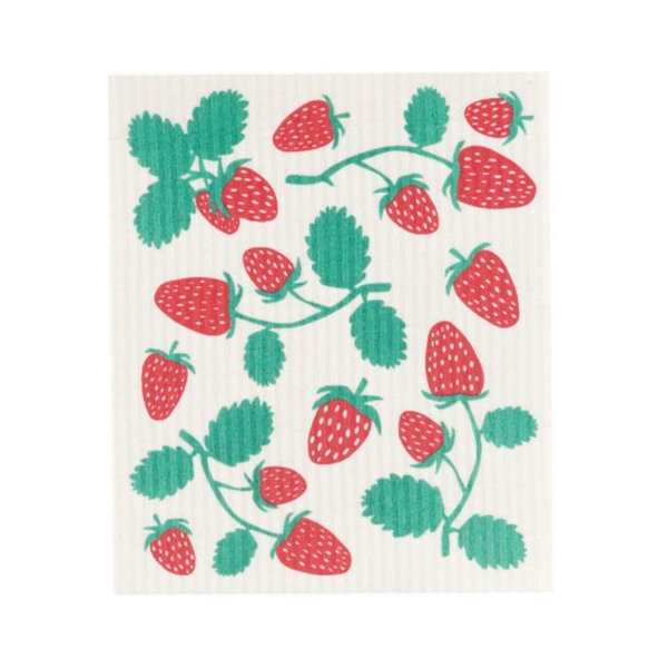 Strawberries Swedish Dishcloth