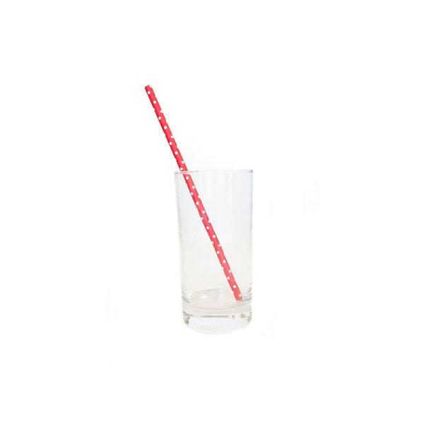 Kitchenbasics Set of 100 Paper Straws, polka dots