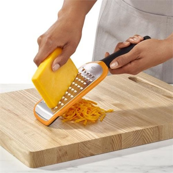 OXO Etched Coarse Grater, orange
