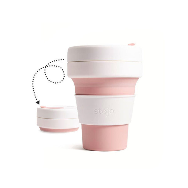 Stojo Collapsible Pocket Cup, blush