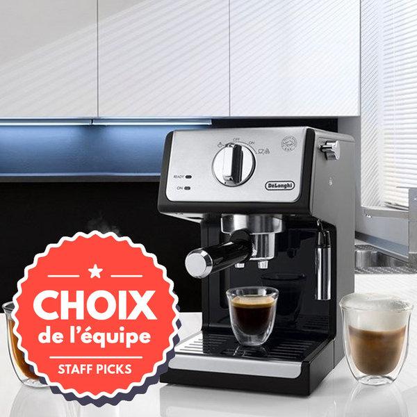 DeLonghi Manual Pump Espresso Machine , Black