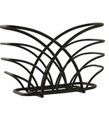 Spectrum Diversified Flower Napkin Holder, Black