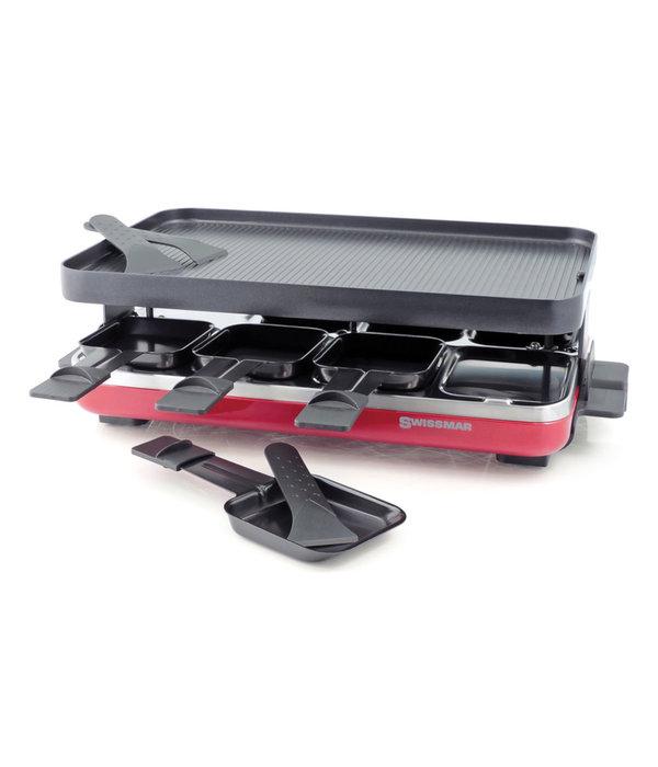Swissmar Raclette électrique Valais rouge avec grill en fonte d'aluminium antiadhésive  réversible de Swissmar