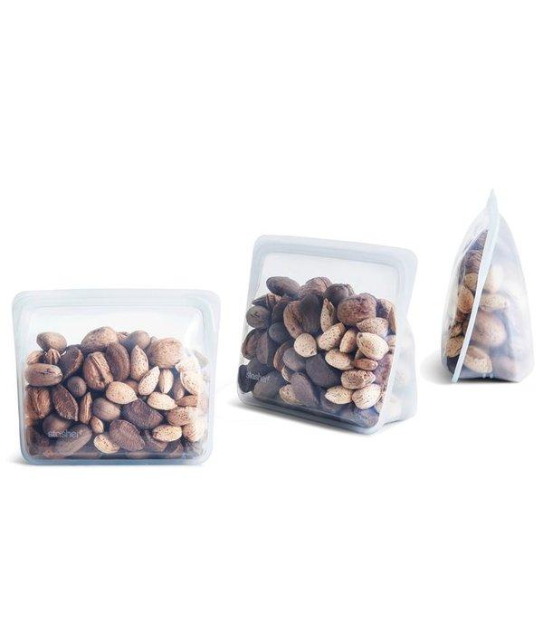 Stasher Sac de rangement réutilisable avec gousset de Stasher