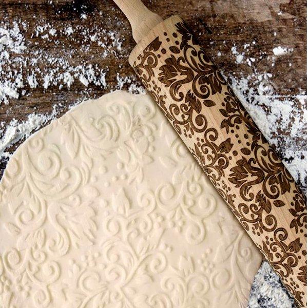 Rouleau à pâtisserie gravé de Danesco
