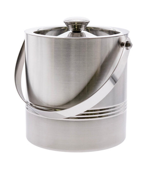 Cuisivin Double Wall Ribbed Ice Bucket with Tong