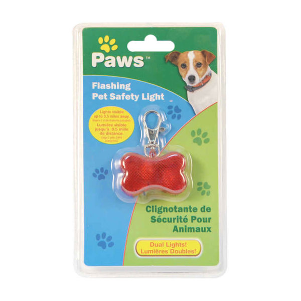 Paws Flashing Pet Safety Light