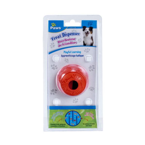 """Balle Distributeur de friandises 2.3"""", 3 coul.asst de Paws  ( AB*)"""