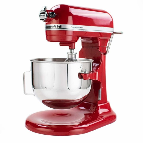 Batteur sur socle à bol relevable 525W Pro HD, 5 pintes KitchenAid, rouge empire