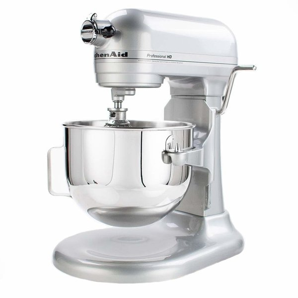 Batteur sur socle à bol relevable 525W Pro HD, 5 pintes KitchenAid, chrome