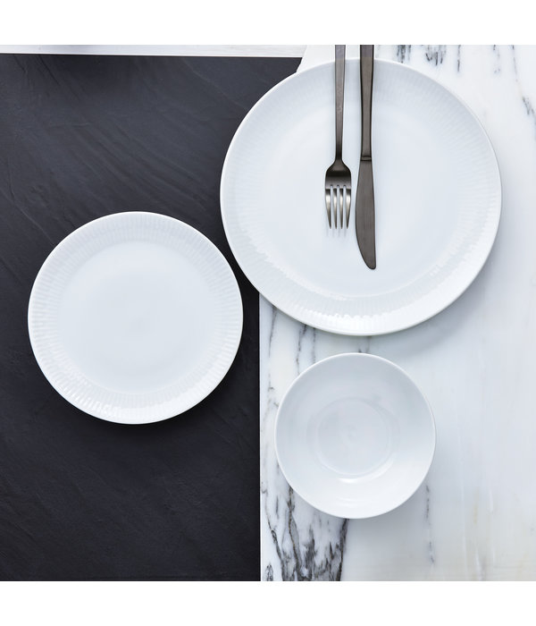 "H2K 12pc ""Radiance"" Dinnerware Set, white"