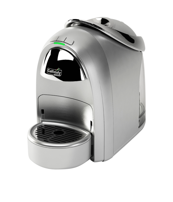 Machine à dosettes d'espresso S18 argent de Caffitaly