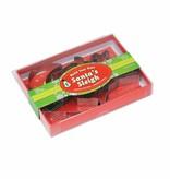 Fox Run Fox Run 5PC Santa's Sleigh Cookie Cutter Set, Stainless Steel