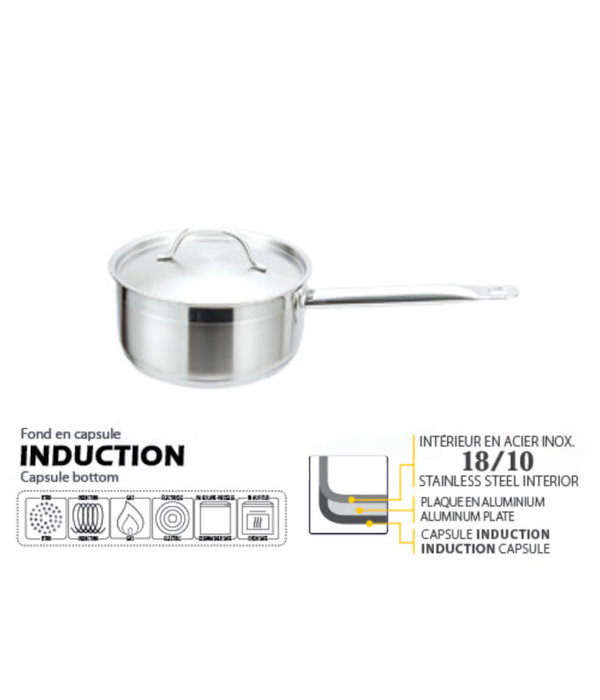 Strauss Pro Josef Strauss Low Saucepan with cover 3L