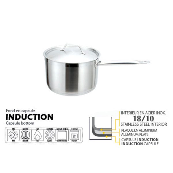 Josef Strauss High Saucepan with cover 4L