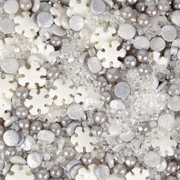 WILTON HOLIDAY SNOWFLAKE SPRINKLE MIX, 4.2 OZ.