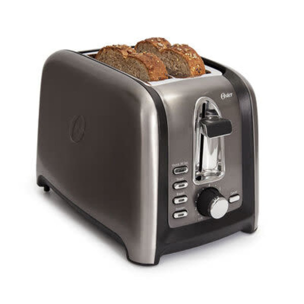 Oster® 2-Slice Toaster, Black Stainless