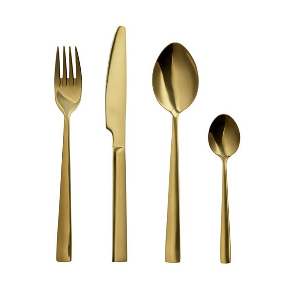 "16pc ""Epicure"" Flatware Set, gold"