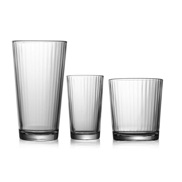 "Pasabahce Set of 12 ""Linea"" Glasses"