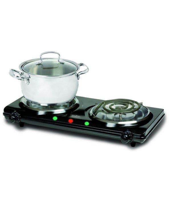 Salton Plaque de cuisson électrique double noir de Salton