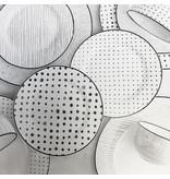 """Ensemble à dîner 12mcx """"Sketch"""" Noir/Blanc en ceramique"""