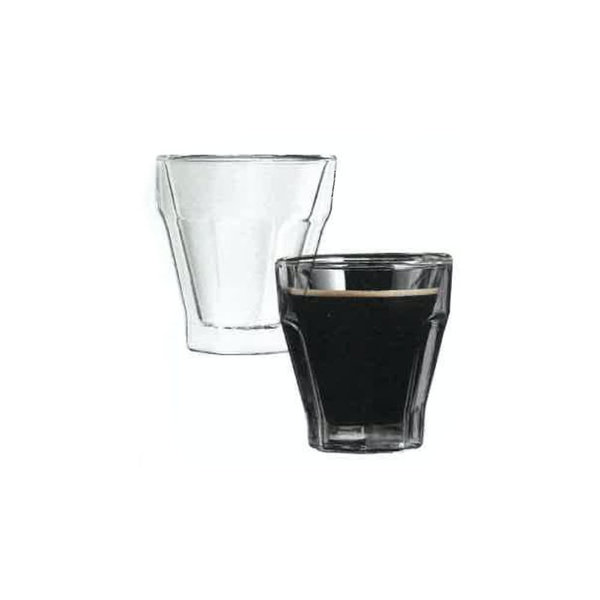Barista Vintage 2pc Espresso Double Wall Glass Set 110ml