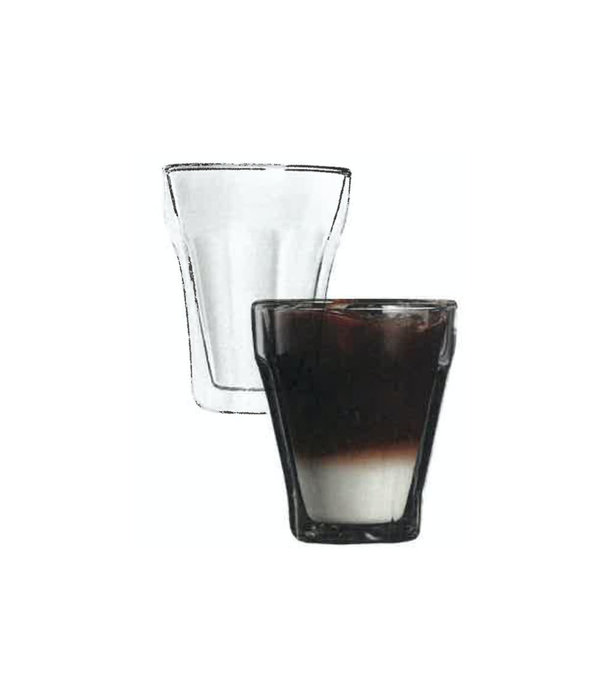 2pc Cappuccino Double Wall Glass Set, 250ml