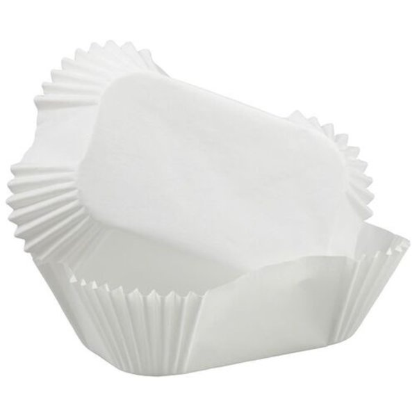 WILTON WHITE PETITE LOAF BAKING CUPS, SET OF 50