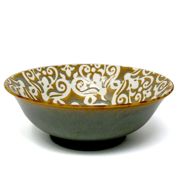 BIA DAMASK Footed Serving Bowl 20.5cm