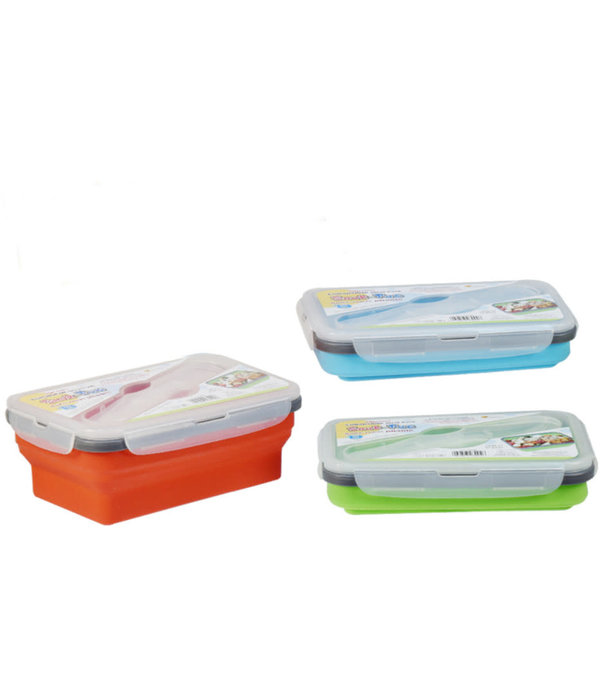 Snak-Pac Silicone Meal-Pack with Cutlery