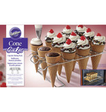Wilton WILTON CUPCAKE CONES BAKING RACK, 12-CAVITY ICE CREAM CONE CUPCAKES HOLDER