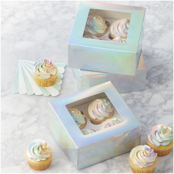 Ens. de 3 boîtes à petits gâteaux de Wilton