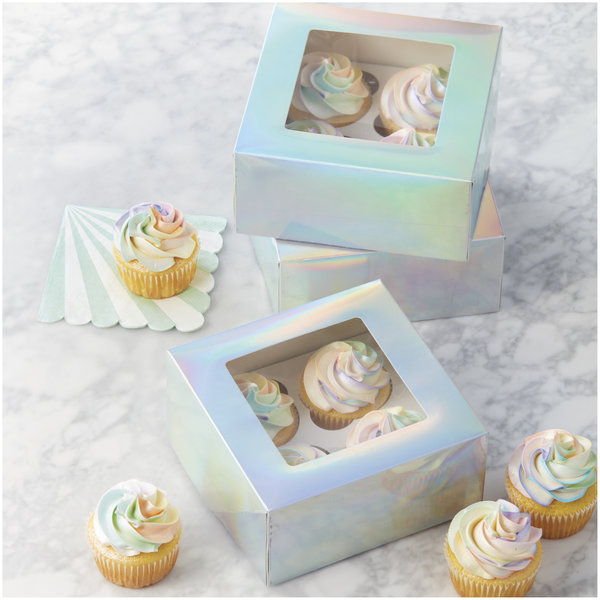 Wilton Iridescent Cupcake Boxes, 3-Count