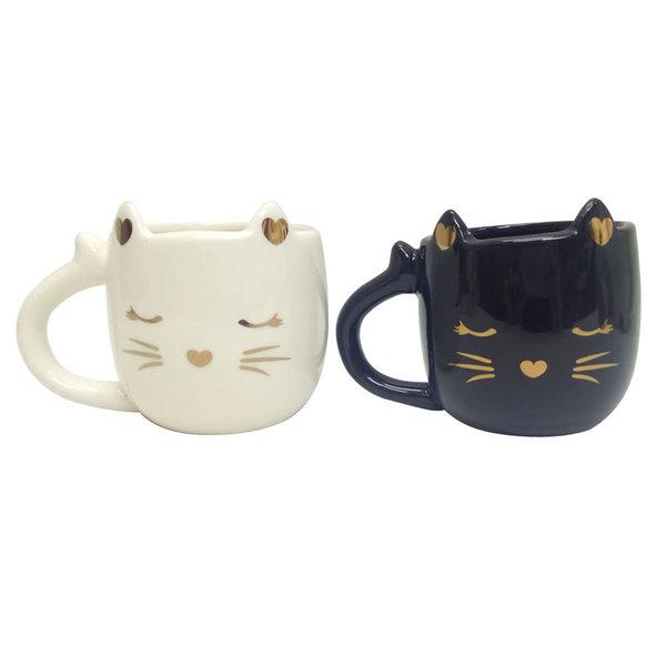 Tasse Chat assortie (noir ou blanc )