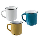 "Tasse en ceramique émail ""Woodland"",  3 couleur assorties"