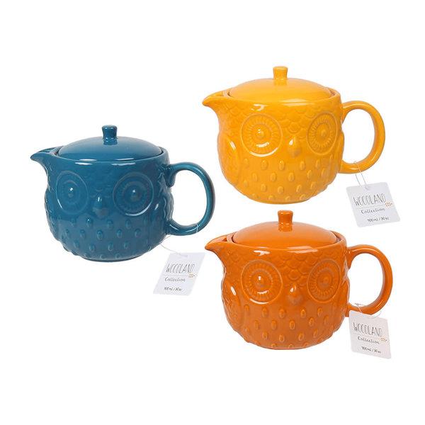Woodland 900ml/30 oz Teapot, 3 colors available