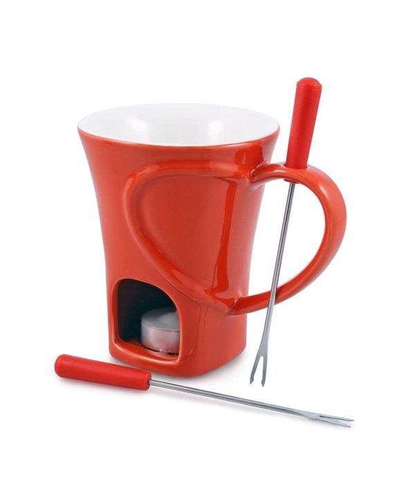 Swissmar Swissmar 4-Piece Sweetheart Chocolate Fondue Mug Set