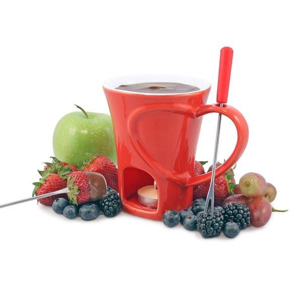 Swissmar 4-Piece Sweetheart Chocolate Fondue Mug Set