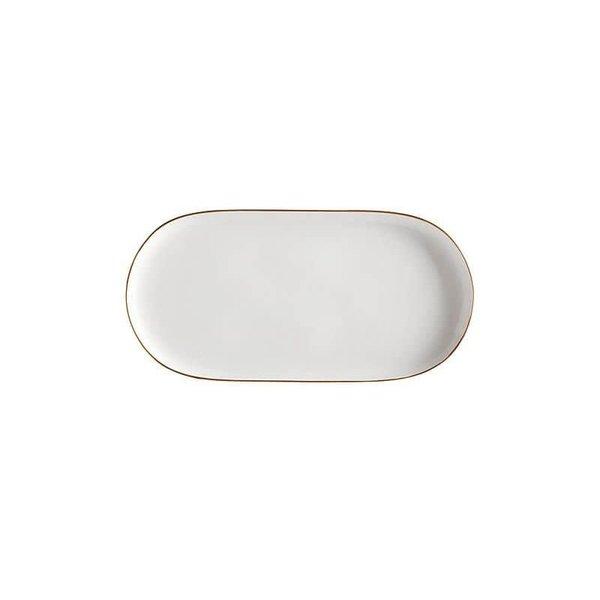 """Assiette service 30cm ovale """"Oro""""de Maxwell & Williams"""