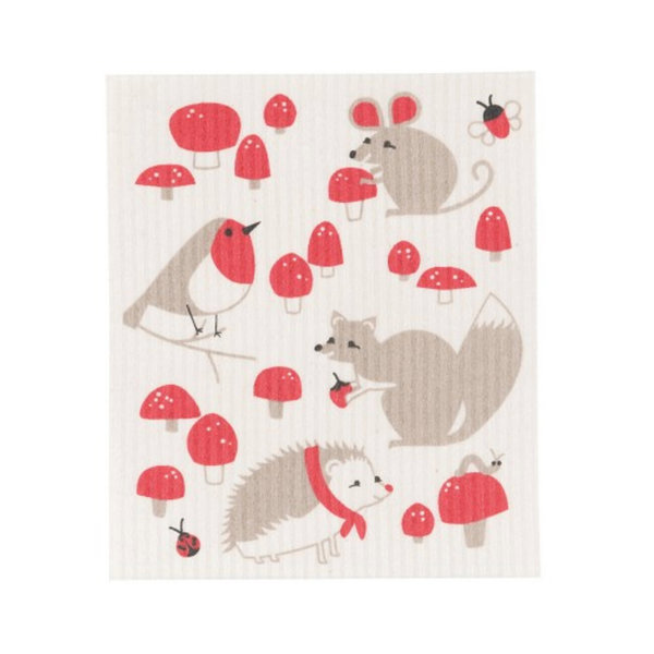 NowDesigns Eco Swedish Sponge Cloth Forest Friends