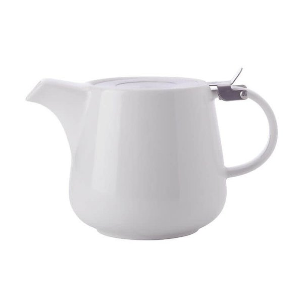 Théière avec infuseur 1.2l en porcelaine blanc de Maxwell & Williams