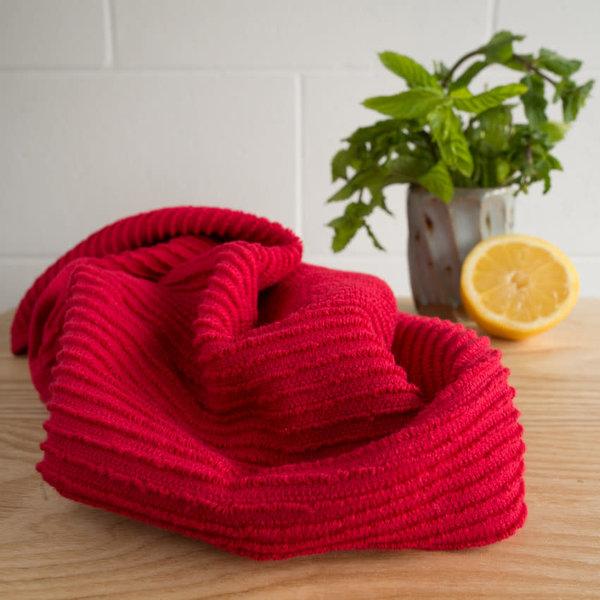 """Linge vaisselle/main 100% cotton """"Ripple"""" Rouge de Now Design"""