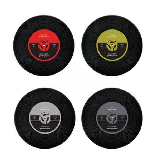 Ensemble de sous-verres disque vinyle de Starfrit Gourmet