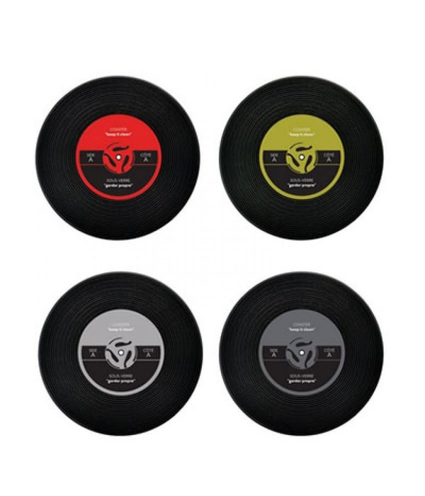 "Starfrit Gourmet Set of 4 ""Vinyl Records"" Coasters"