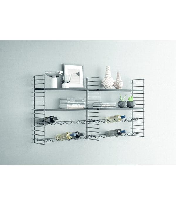 Système d'étagères Modulables avec porte Bouteille Tomado de Metaltex