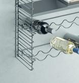 Metaltex Tomado Modular Shelving System with Bottle Rack Holders