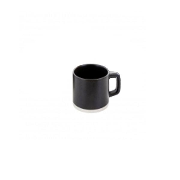 Gibson Artisanal 13oz Stoneware Mug, black