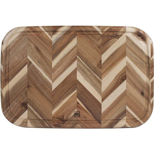 """Madeira Acacia Herringbone Carving and Cutting Board, 13"""" x 19"""""""