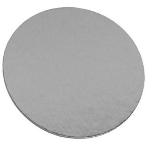 Laminated cake board 8in - Silver