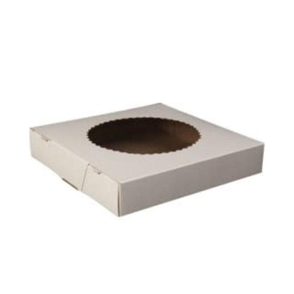 """Pie Box with window 8"""" x 8"""" x 1,5"""""""